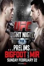 Ufc Fight Night 61 Bigfoot Vs Mir Prelims