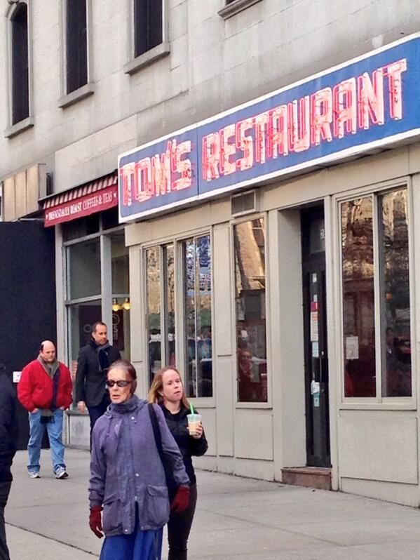Jerry Seinfeld, Larry David & Jason Alexander At Tom's Restaurant: Seinfeld Reunion Super Bowl 2014